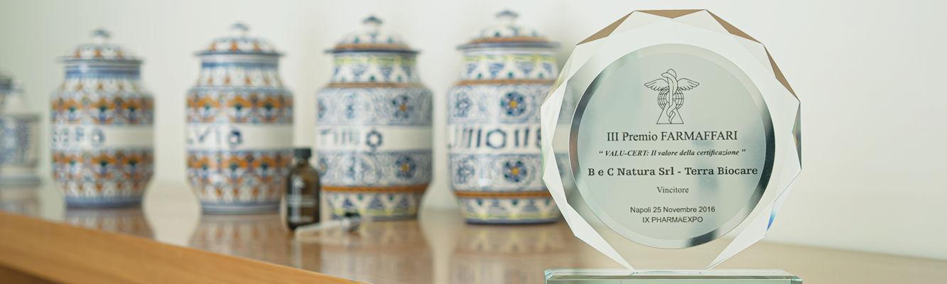 BeC riceve il premio VALU-CERT per la linea ecobio Terra Biocare